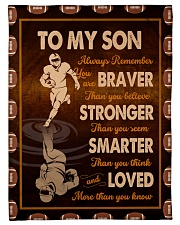 """Gift For Son - To My Son Football Small Fleece Blanket - 30"""" x 40"""" front"""