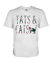 Tats and Cats V-Neck T-Shirt thumbnail