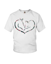 Horses and Cats Youth T-Shirt thumbnail