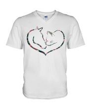 Horses and Cats V-Neck T-Shirt thumbnail