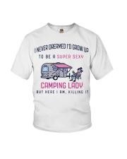 Camping Lady Youth T-Shirt thumbnail