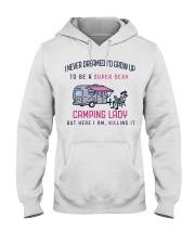 Camping Lady Hooded Sweatshirt thumbnail