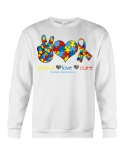 Peace love cure Crewneck Sweatshirt thumbnail