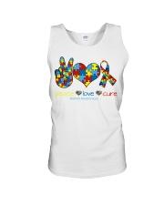 Peace love cure Unisex Tank thumbnail
