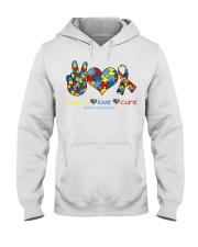 Peace love cure Hooded Sweatshirt thumbnail