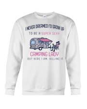 Camping Lady Crewneck Sweatshirt thumbnail