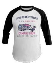 Camping Lady Baseball Tee thumbnail