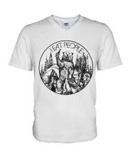 Camping V-Neck T-Shirt thumbnail
