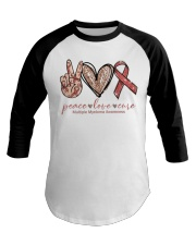 Peace Love Cure Baseball Tee thumbnail