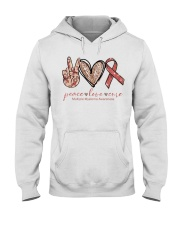 Peace Love Cure Hooded Sweatshirt thumbnail