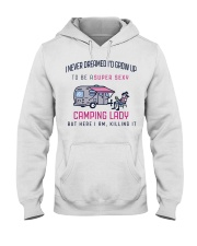 Camping Lady Hooded Sweatshirt thumbnail