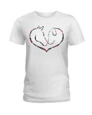 Horses and Dogs Ladies T-Shirt thumbnail