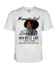 Minnesota Girl V-Neck T-Shirt thumbnail