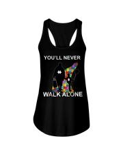 Never walk alone Ladies Flowy Tank thumbnail