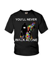 Never walk alone Youth T-Shirt thumbnail