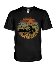 Camping V-Neck T-Shirt tile