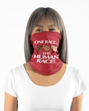 One Race the Human Race Neck Gaiter Neck Gaiter - 5 Pack aos-neck-gaiter-lifestyle-11