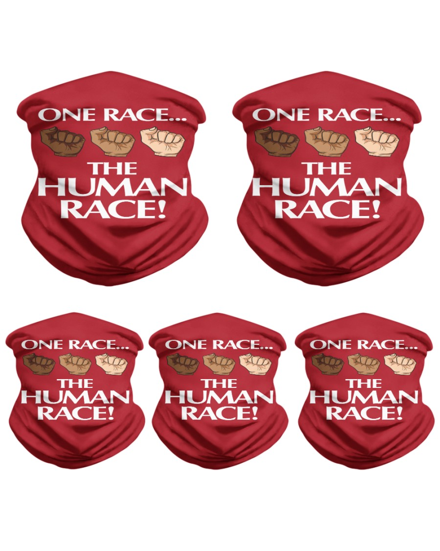 One Race the Human Race Neck Gaiter Neck Gaiter - 5 Pack