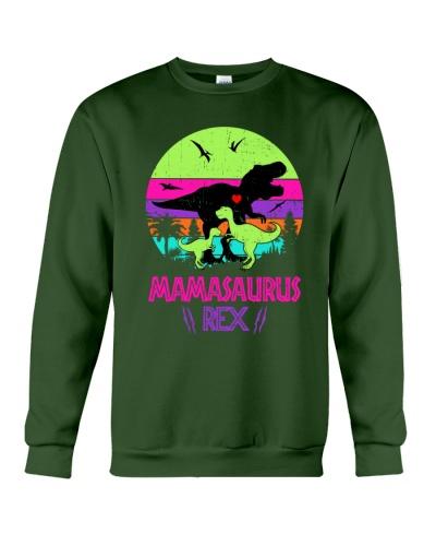 Mamasaurus rex Dinosaur 2 Kids Retro Vintage