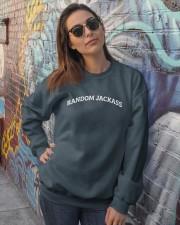 Random Jackass Crewneck Sweatshirt lifestyle-unisex-sweatshirt-front-3