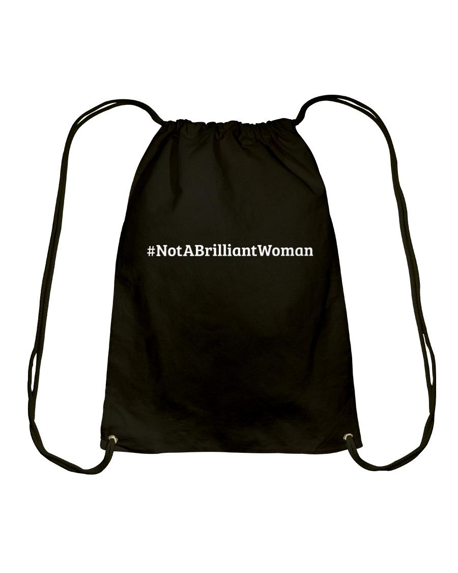 Not a Brilliant Woman Drawstring Bag