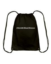 Not a Brilliant Woman Drawstring Bag thumbnail