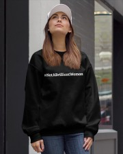 Not a Brilliant Woman Crewneck Sweatshirt lifestyle-unisex-sweatshirt-front-1