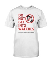 Nick Shabazz Says No to Watches Classic T-Shirt front