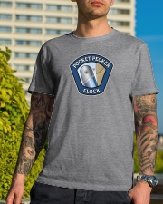 Join the Pocket Pecker Flock Classic T-Shirt lifestyle-mens-crewneck-front-8