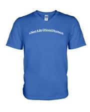 Not A Brilliant Human Dark V-Neck T-Shirt thumbnail