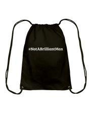 Not a Brilliant Man Drawstring Bag thumbnail