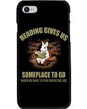 RABBIT - READING GIVES US SOMEPLACE TO GO Phone Case thumbnail