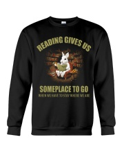 RABBIT - READING GIVES US SOMEPLACE TO GO Crewneck Sweatshirt thumbnail