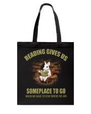 RABBIT - READING GIVES US SOMEPLACE TO GO Tote Bag thumbnail