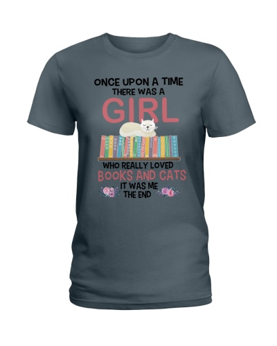 A GIRL LOVED BOOKS AND CATS 2