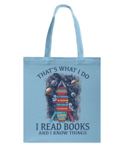 I READ BOOKS AND I KNOW THINGS Tote Bag thumbnail