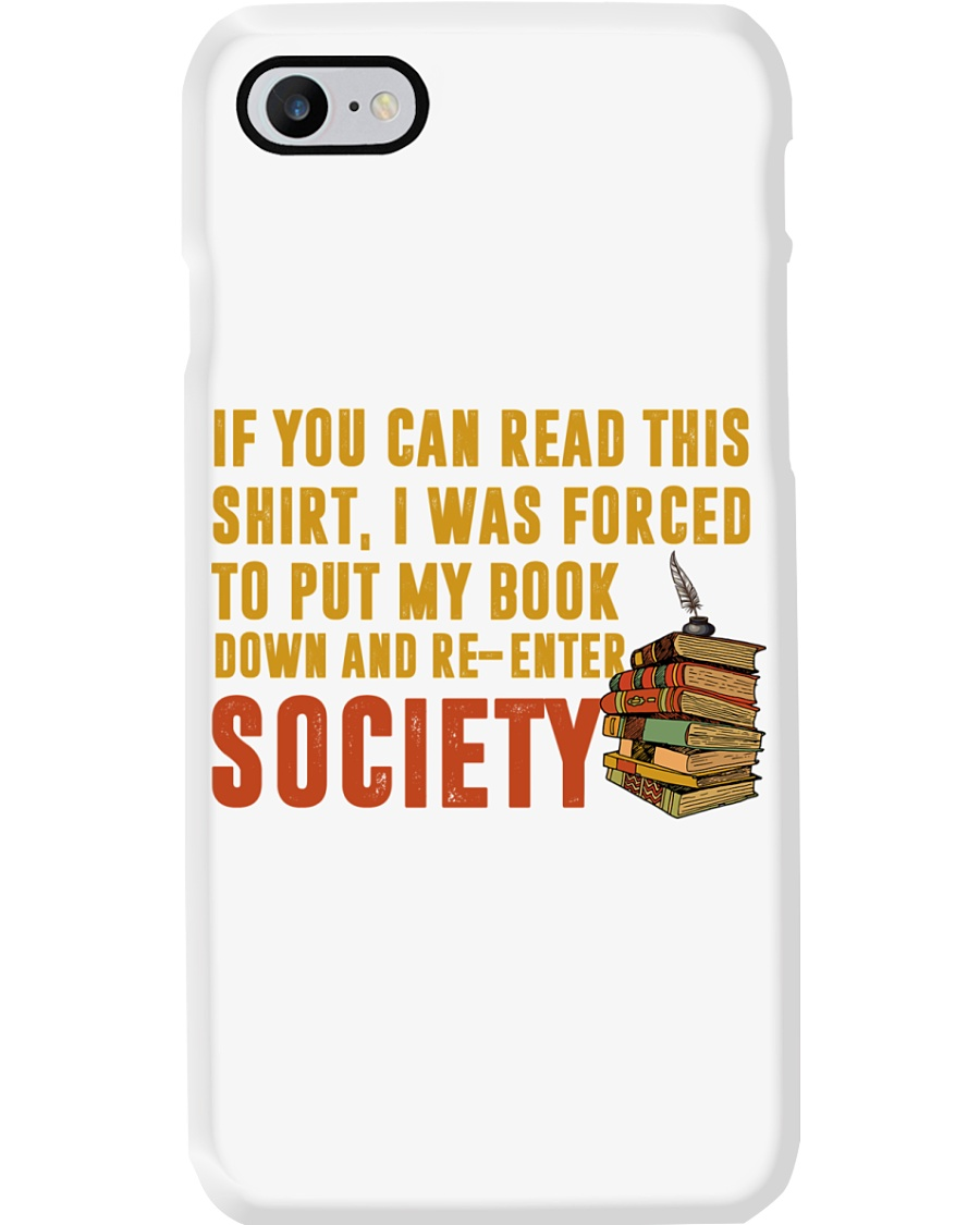 I Was Forced To Put My Book Down Phone Case