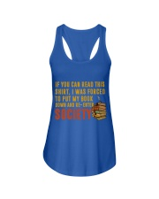 I Was Forced To Put My Book Down Ladies Flowy Tank front