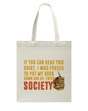 I Was Forced To Put My Book Down Tote Bag front