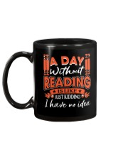 A DAY WITHOUT READING 2 Mug back