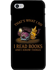 I READ BOOKS AND I KNOW THINGS V3 Phone Case tile