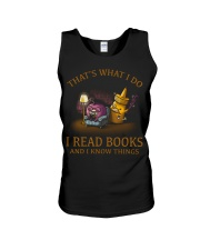 I READ BOOKS AND I KNOW THINGS V3 Unisex Tank thumbnail