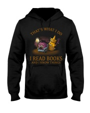I READ BOOKS AND I KNOW THINGS V3 Hooded Sweatshirt tile