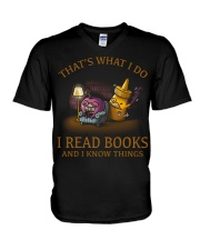 I READ BOOKS AND I KNOW THINGS V3 V-Neck T-Shirt thumbnail