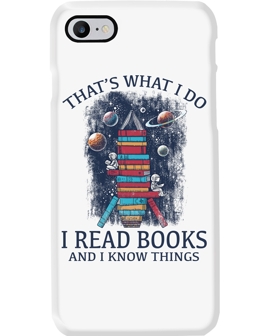 I READ BOOKS AND I KNOW THINGS V5 Phone Case