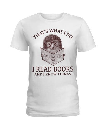 HEDGEHOG- I READ BOOKS AND I KNOW THINGS 2