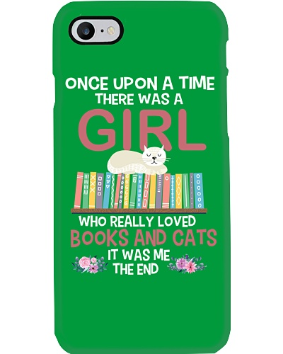 A GIRL LOVED BOOKS AND CATS