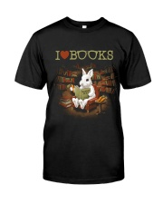I LOVE BOOKS Classic T-Shirt front