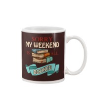 My Weekend Is All Booked Mug thumbnail