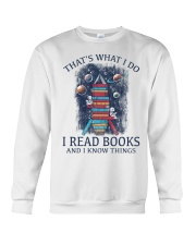 I READ BOOKS AND I KNOW THINGS 2 Crewneck Sweatshirt thumbnail